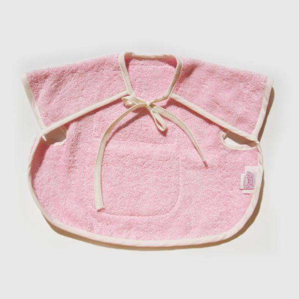 Babero chino rosa trasera