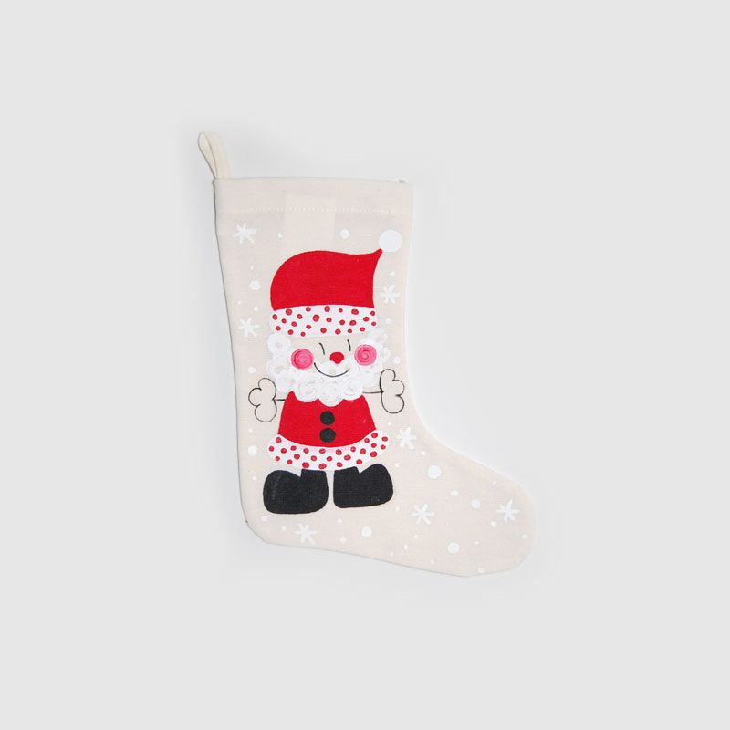 Calcetín navideño Santa Claus